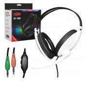 Fone De Ouvido Com Microfone Headset P2 Pc E Notebook df-300 Dex DF-300BR #MEGAPROMO