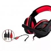 Fone Headset Gamer C/mic Knup Kp-396 Super Bass Hd Pc Xbox, ps4 Vermelho