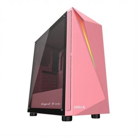 GABINETE GAMER MOTOSPEED HYRAX HGB501 ATX ROSA