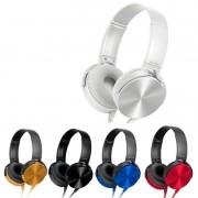 Headphone Estéreo Extra Bass Com Microfone XTRAD LC-834 Branco