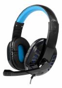 HEADSET GAMER P3 PS4 XBOX ONE C/ MICROFONE USB PARA LED EXBOM HF-G310P4 AZUL