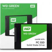 SSD WD Green, 120GB, Sata III, Leitura 540MBs e Gravação 430MBs, WDS120G2G0A