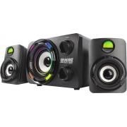 SUBWOOFER GAMER 2.1 9.9W RMS PRETO/LED 7 CORES SS-9800 K-MEX