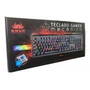 TECLADO GAMER MECANICO SWITCH BLUE KNUP KP-TM005 CHROMA