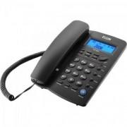 TELEFONE DE MESA C/FIO IDENT DE CHAMADA VIVA VOZ PRETO TCF 3000 ELGIN@