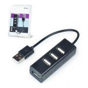 USB 2.0 HUB 4 PORTAS PORTATIL SLIM 480MBPS 02490 EXBOM