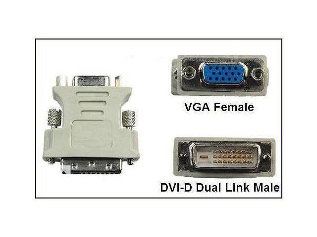 Adaptador Dvi-D (24+1) para Vga P/ Placa De Video Monitor, Projetor
