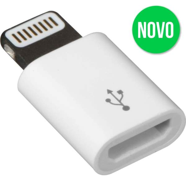 ADAPTADOR IPHONE MACHO PARA V8 FEMEA AT-IP-V8