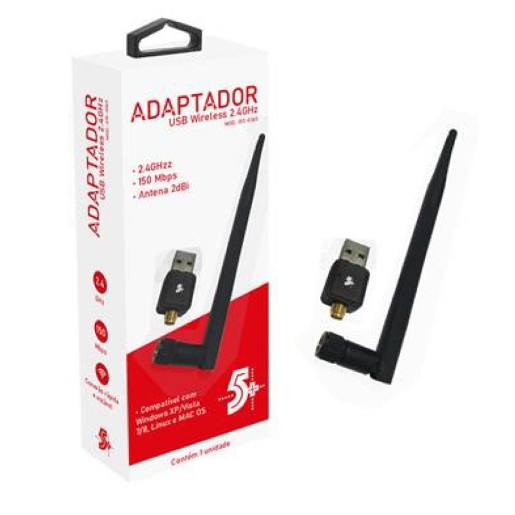 ADAPTADOR USB WIRELESS 2.4GHZ INTERFACE USB 2.0 5+