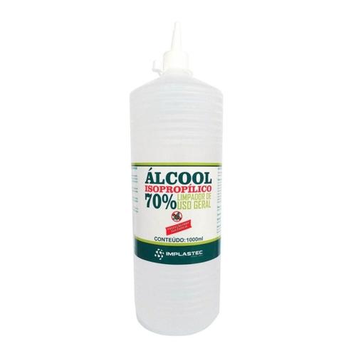 ALCOOL ISOPROPILICO 70% 1 LITRO IMPLASTEC