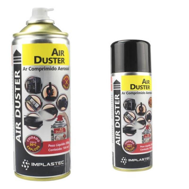 Ar Comprimido Aerossol 200G/164Ml Air Duster IMPLASTEC CLEAN IMPLASTEC