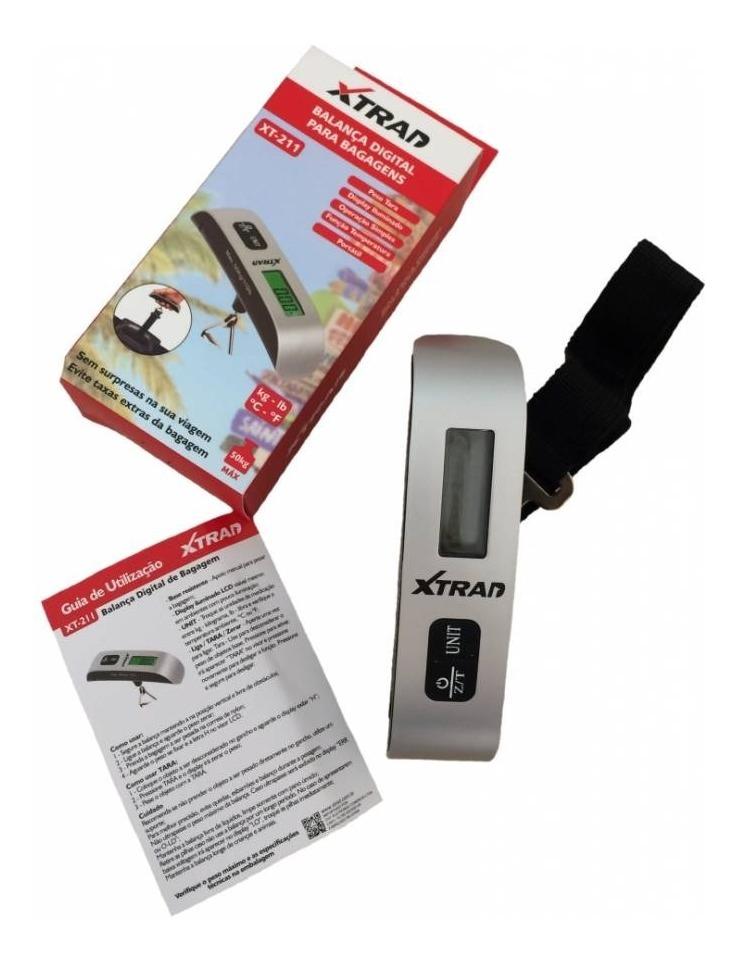 Balança Digital para Mala e Bagagm com Capacidade Até 50 Quilos Xtrad xt211