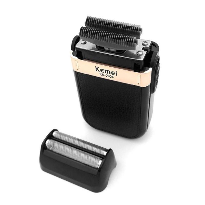 Barbeador Shaver Elétrico Sem Fio Kemei 2 Lâminas Km-2024 Bivolt Recarregável