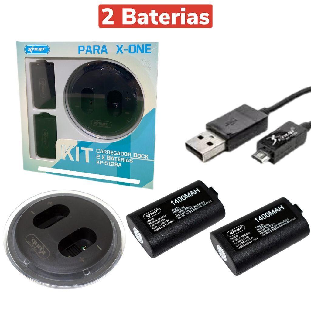 Base Carregador Dock 2 Baterias Para Controle Xbox-one Knup KP-5128A