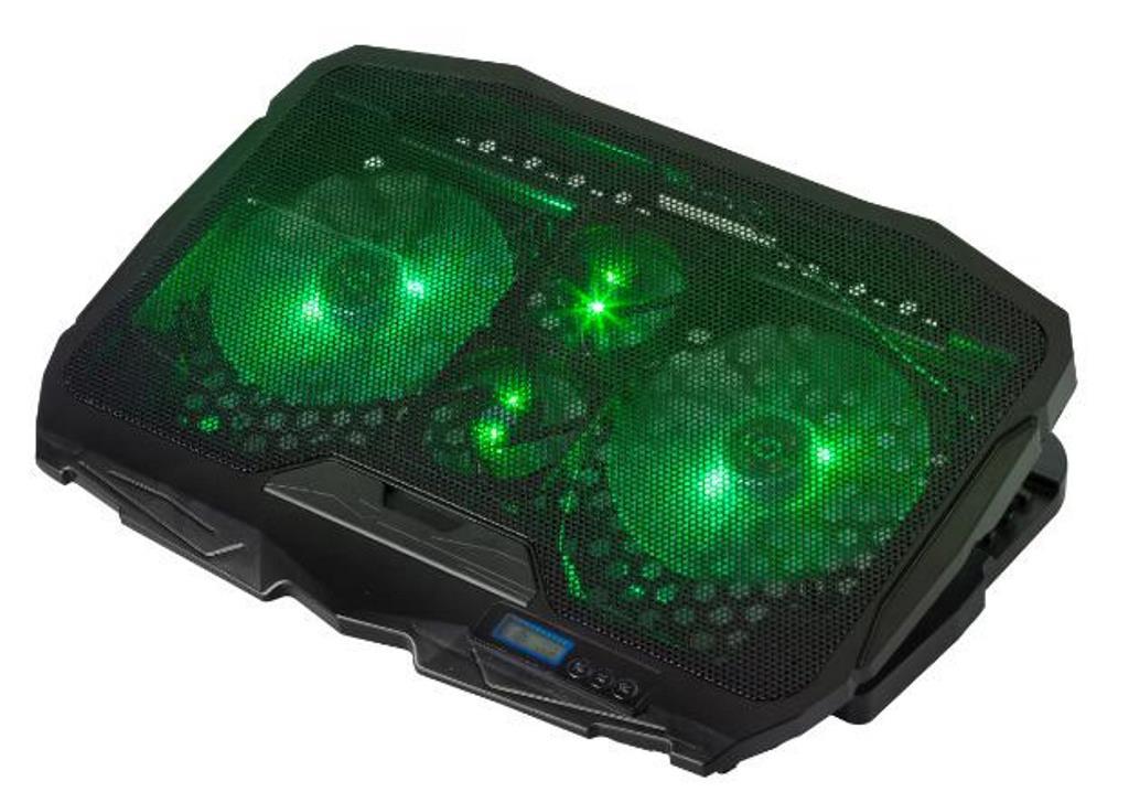 Base Suporte Cooler Para Notebook 17 Led 4 Coolers Dx-006vd Cooler Verde