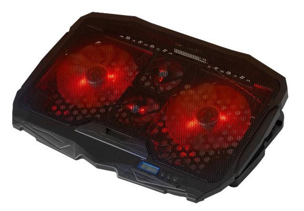 Base Suporte Cooler Para Notebook 17 Led 4 Coolers Dx-006vm Cooler Vermelho