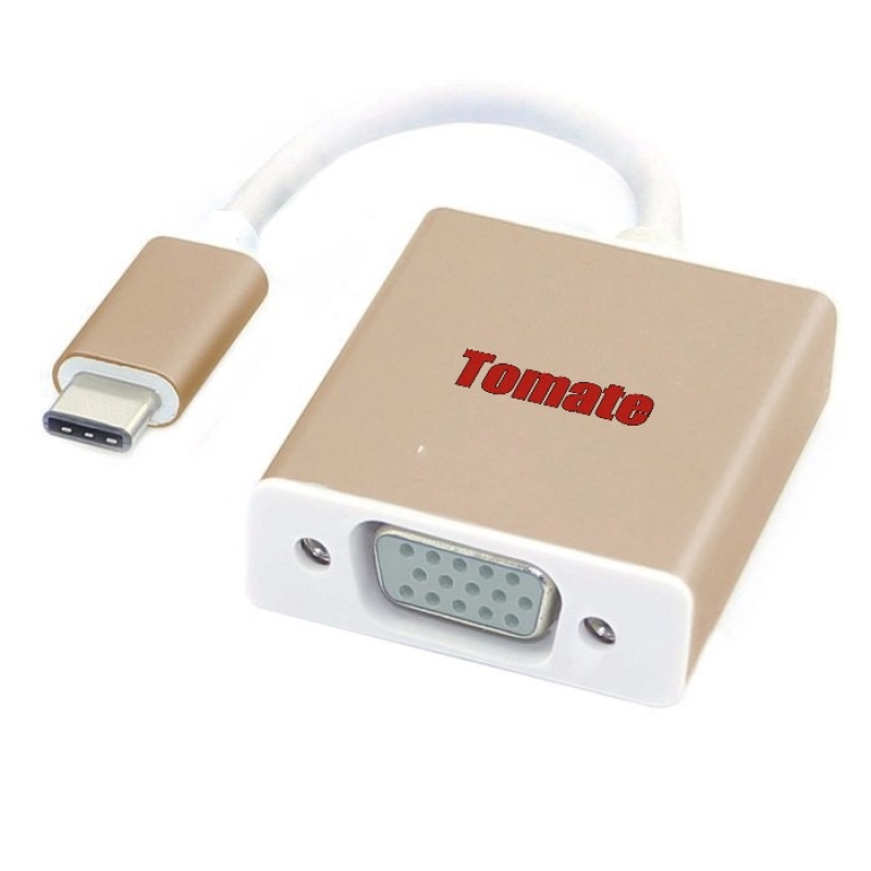 CABO ADAPTADOR CONVERSOR TYPE-C X VGA FÊMEA TOMATE - MTC-7104