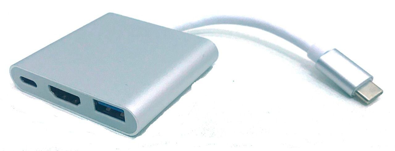 Cabo Adaptador Usbc 3.1 Tipoc Hdmi Usb Dex Thunderbolt 3.0 Dock 3 Em 1 HC-03