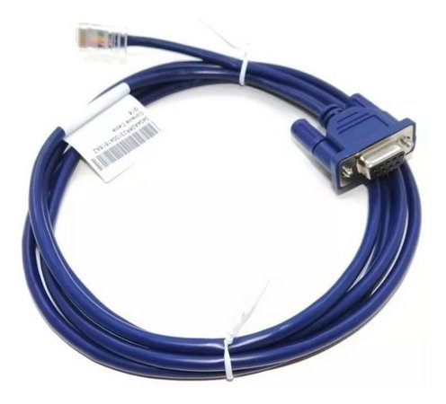 Cabo Console Cable PARA HP 3COM Cisco Rj45 X Db9 Femea AZUL ESCURO