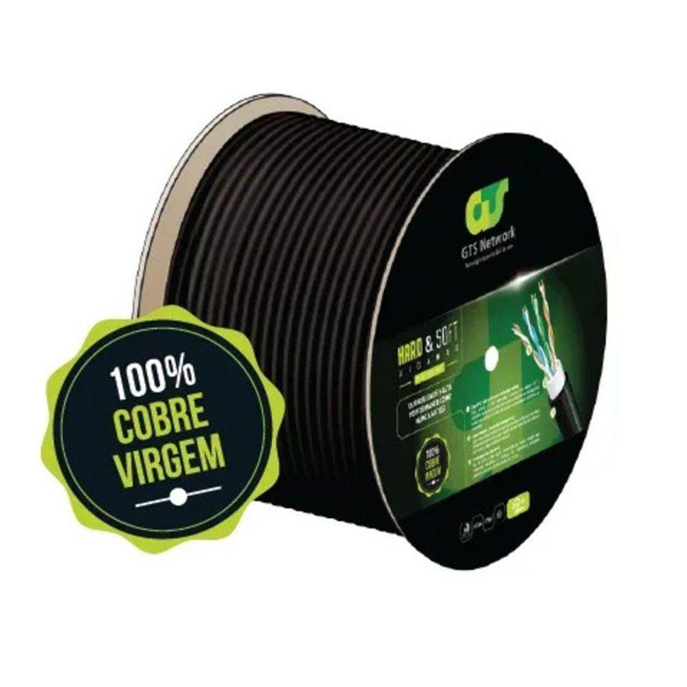 CABO DE REDE GTS HARD&SOFT GIGAMAX C5E+ TRUE100MHZ 4 PARES 100% COBRE BOBINA C/ 333M