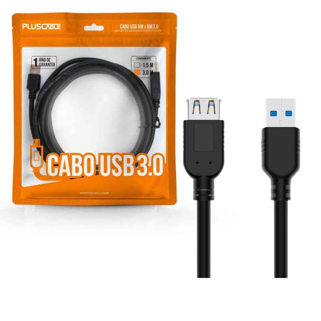 CABO EXTENSOR USB 3.0 AMxAF 3,0m USBAF3030 PLUS CABLE@