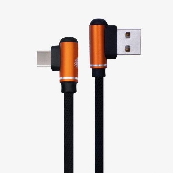 CABO GAMER LASH 90 GRAUS C20 TYPE-C X USB A 2.1Ah 1m PRETO 48.7275 OEX
