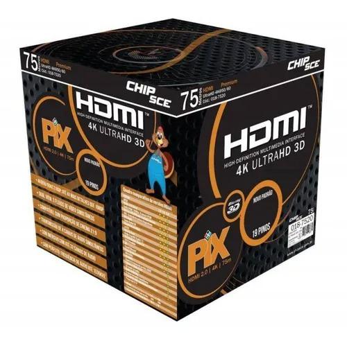 CABO HDMI GOLD 1.4 - 3D FULL HD 19P 75M - COM FILTRO