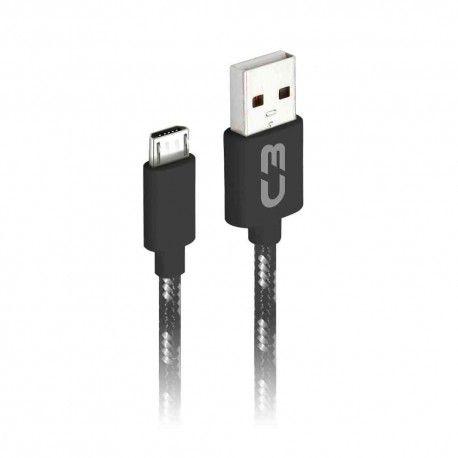 CABO MICRO USB 2.0 AM x USB 1m PRETO CB-M11GBKX C3 PLUS@