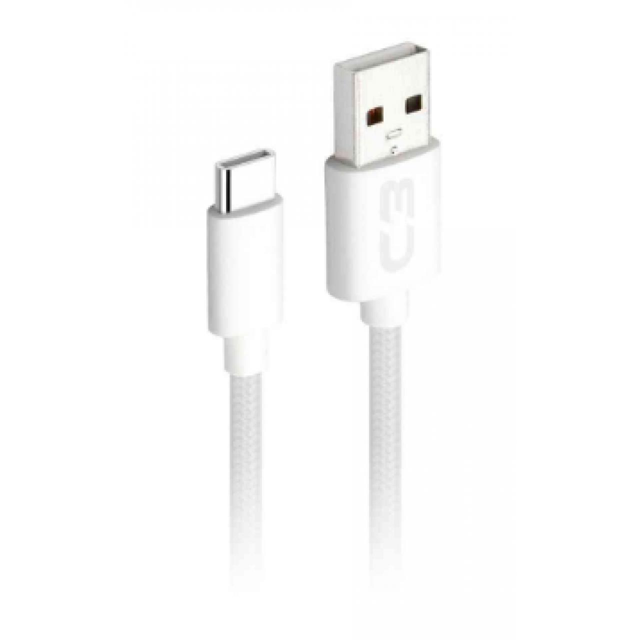 CABO TIPO C USB 2.0 AM 2m BRANCO CB-C21WHX C3 PLUS@