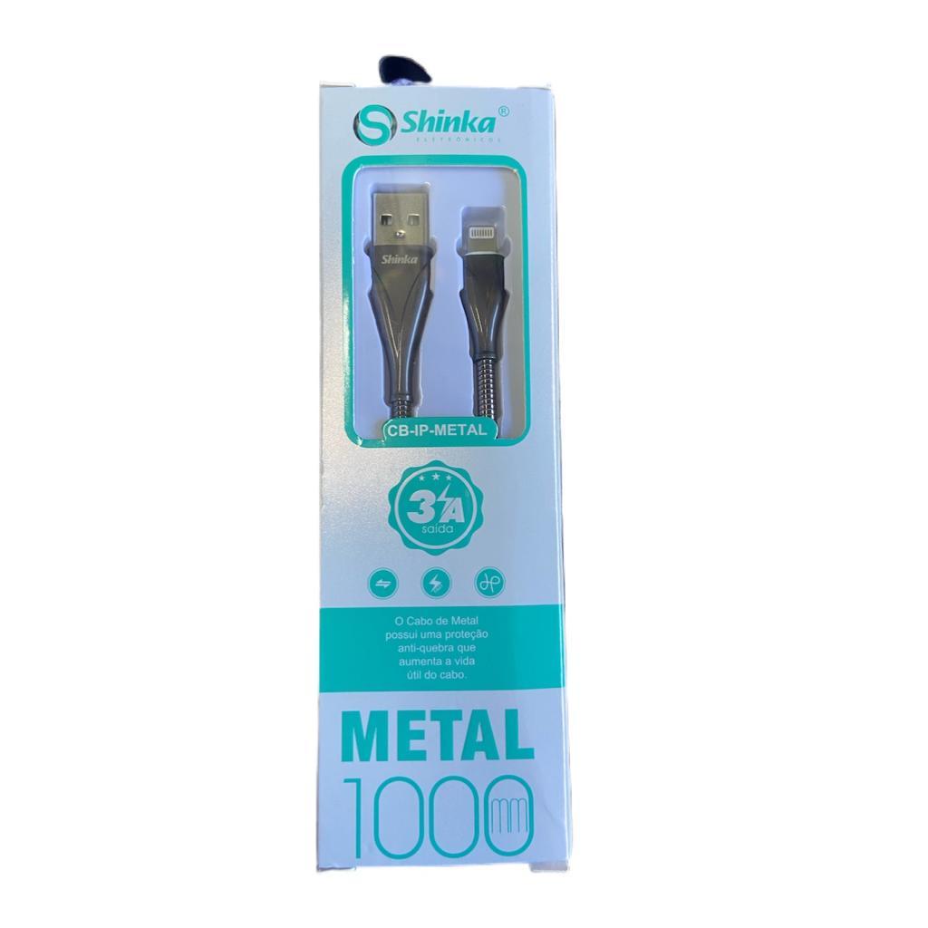 CABO USB LIGHTNING METALIZADO 1 METRO 3A IPHONE CB-IP-METAL SHINKA