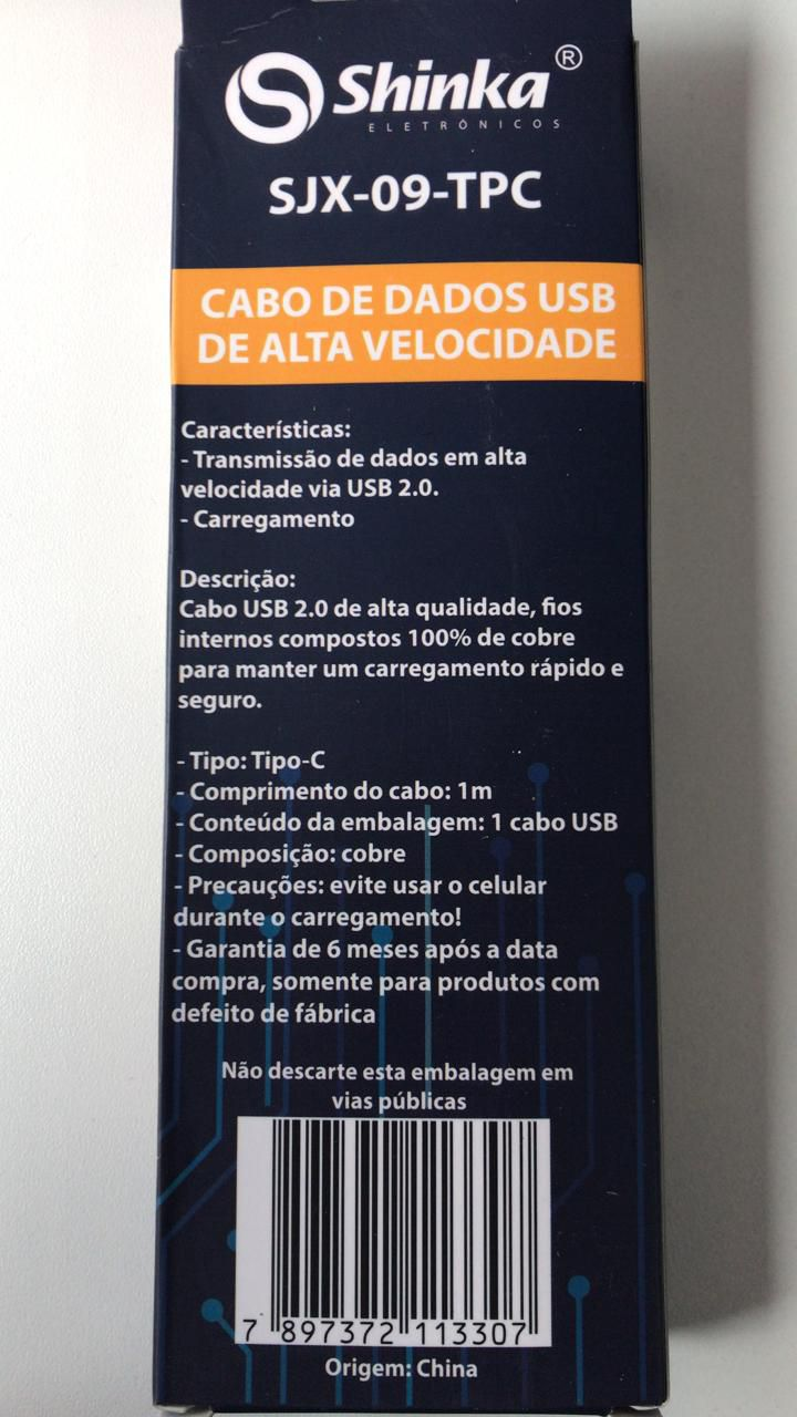 CABO USB TYPE C TECIDO 1M SJX-09-TPC