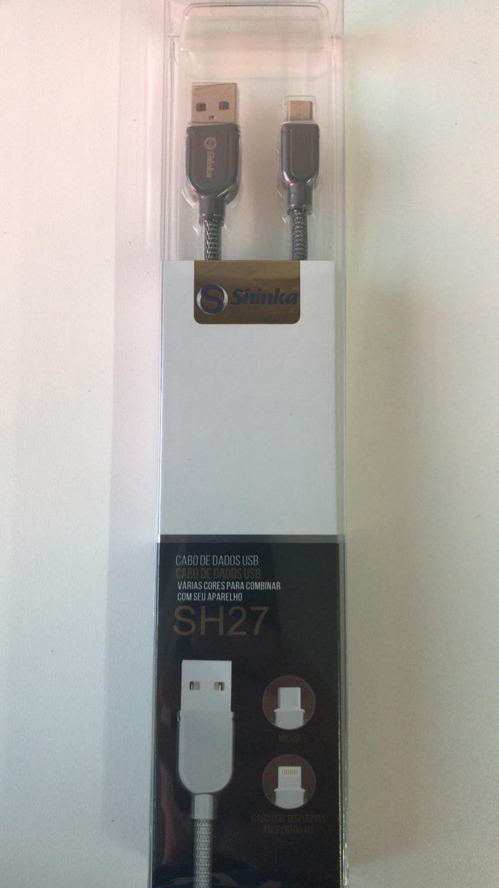 CABO USB V8 METALIZADO 1M 3.0A SHINKA SH27-V8