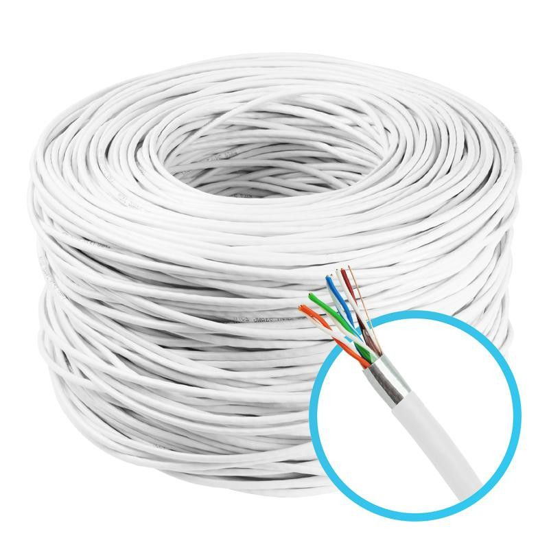 CAIXA Cabo De Rede Blindado BRANCO Connect 4 Pares Cat5e Ftp 305m