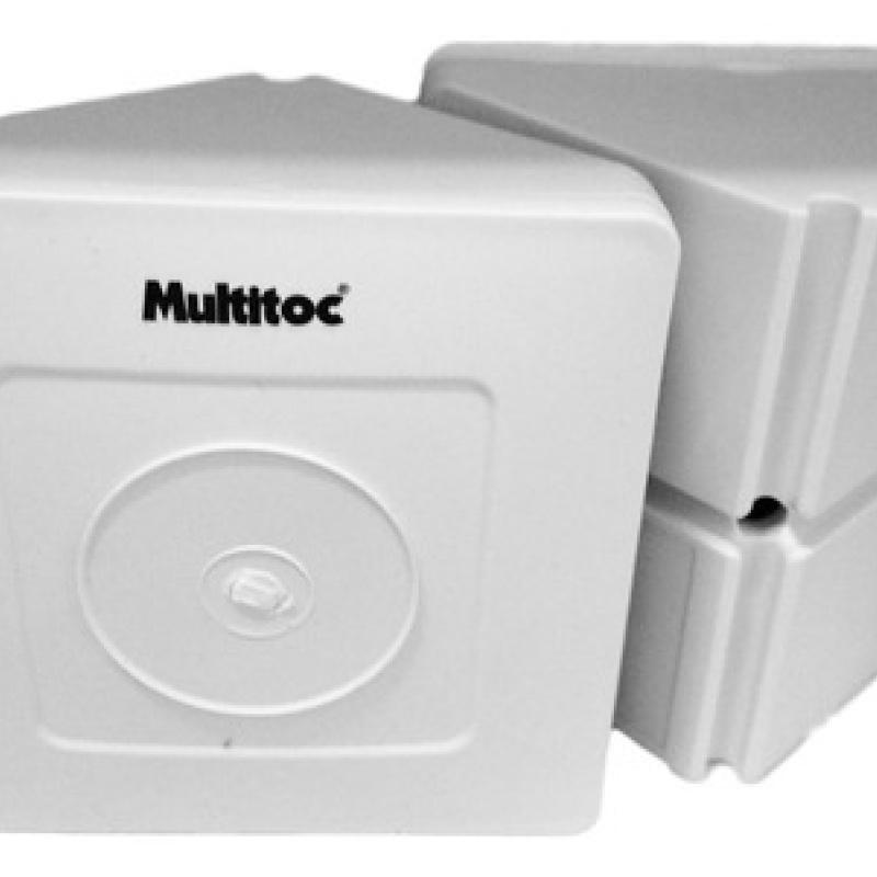 Caixa de Sobrepor Triangular Para Organizar Câmeras De Segurança Multitoc Cftv