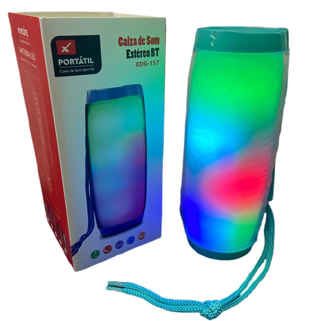 Caixa de Som Bluetooth Portátil 10W LED XTRAD - XDG-157 Verde