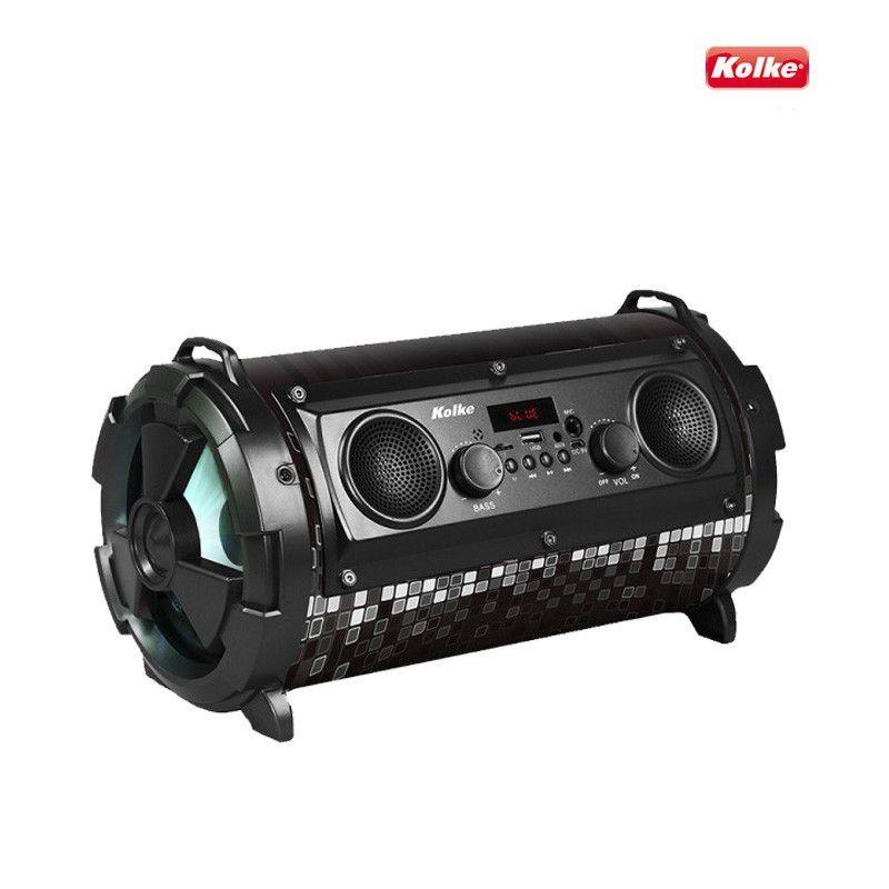 CAIXA DE SOM KOLKE 40W RMS PORTATIL BLUETOOTH USB/SD/P2/FM/KARAOKE PRETO KPM-222 - 625934