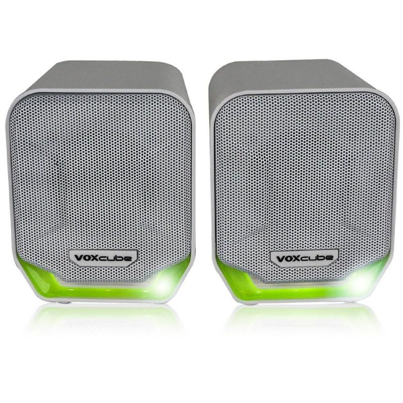 CAIXA DE SOM PARA COMPUTADOR E SMARTPHONE 8W verde COM BASS INFOKIT VC-D360