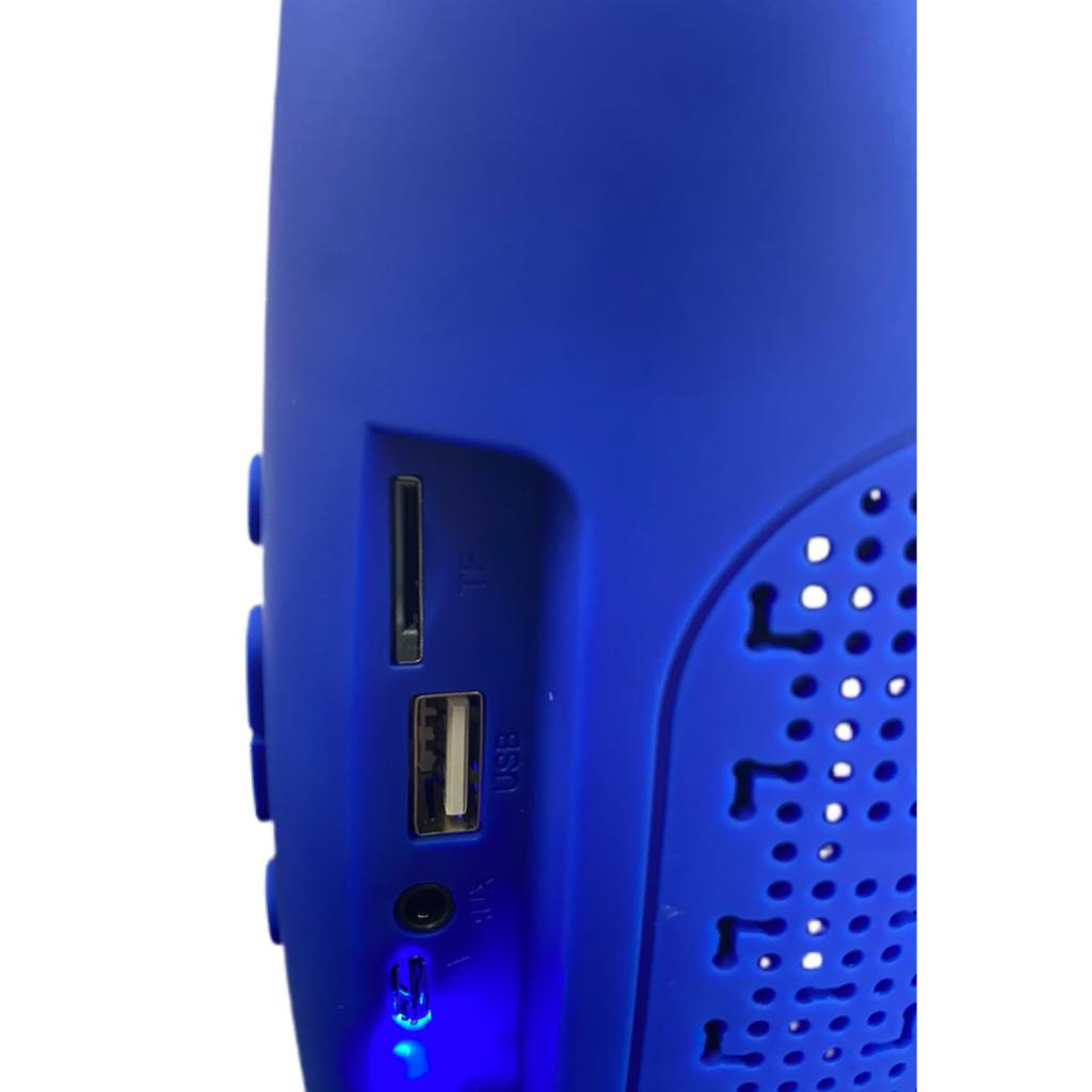 Caixa de Som Portátil Xtrad XDG-76 Bluetooth Entrada USB Micro SD Som Potente Super Bass Azul