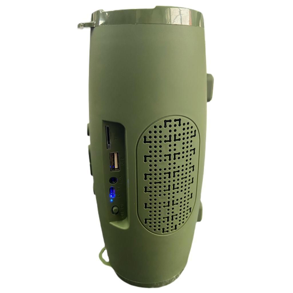 Caixa de Som Portátil Xtrad XDG-76 Bluetooth Entrada USB Micro SD Som Potente Super Bass VERDE