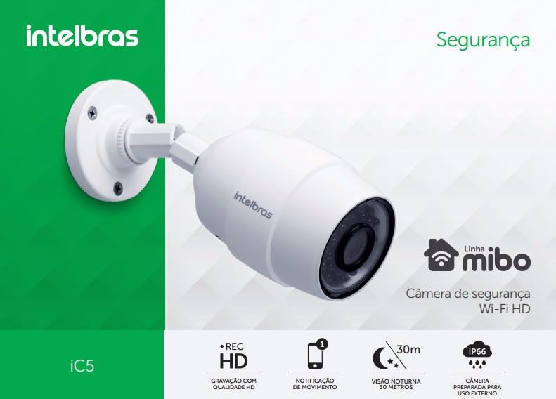 CAMERA DE SEGURANCA WI-FI HD IC5 INTELBRAS