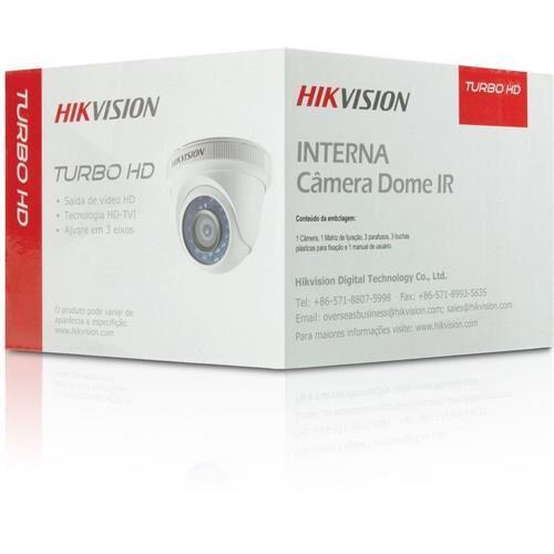 CAMERA HD HIKVISION DS-2CE56C0T-IRPF(2.8mm) MINI DOME TURBO HD 720P, 1MP, LENTE