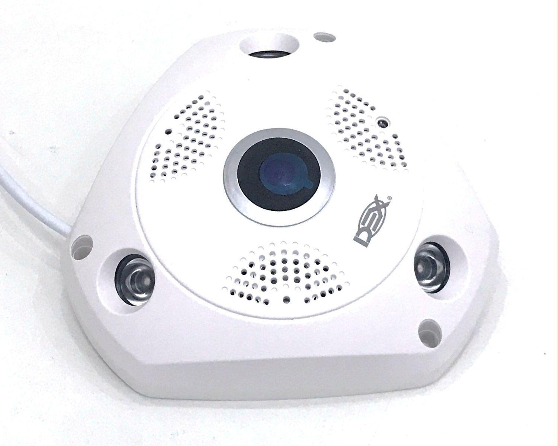 Camera Ip Hd Panoramica 360 Wifi Lente Olho De Peixe 1,3mp DX-W8