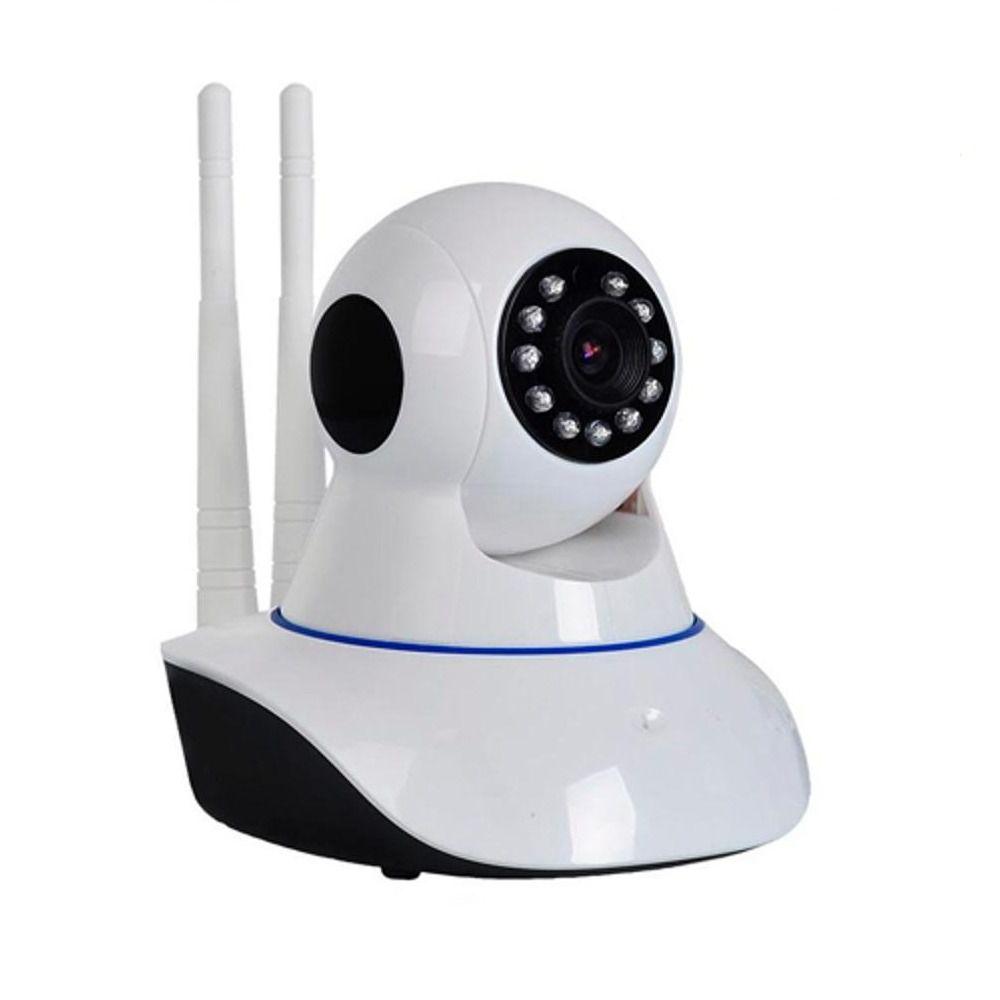Camera Ip Wireless Wi-fi Grava Em Hd Visão Noturna Micro Sd 2 ANTENAS exbom