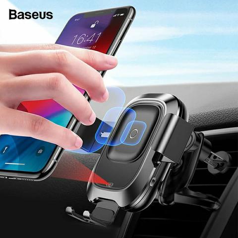 Carregador Sem Fio Suporte Veicular Baseus Smart Vehicle