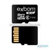 CARTAO DE MEMORIA 16GB MICRO SD (TF ) AMAZENAMENTO DE DADOS EXBOM STGD-TF16G