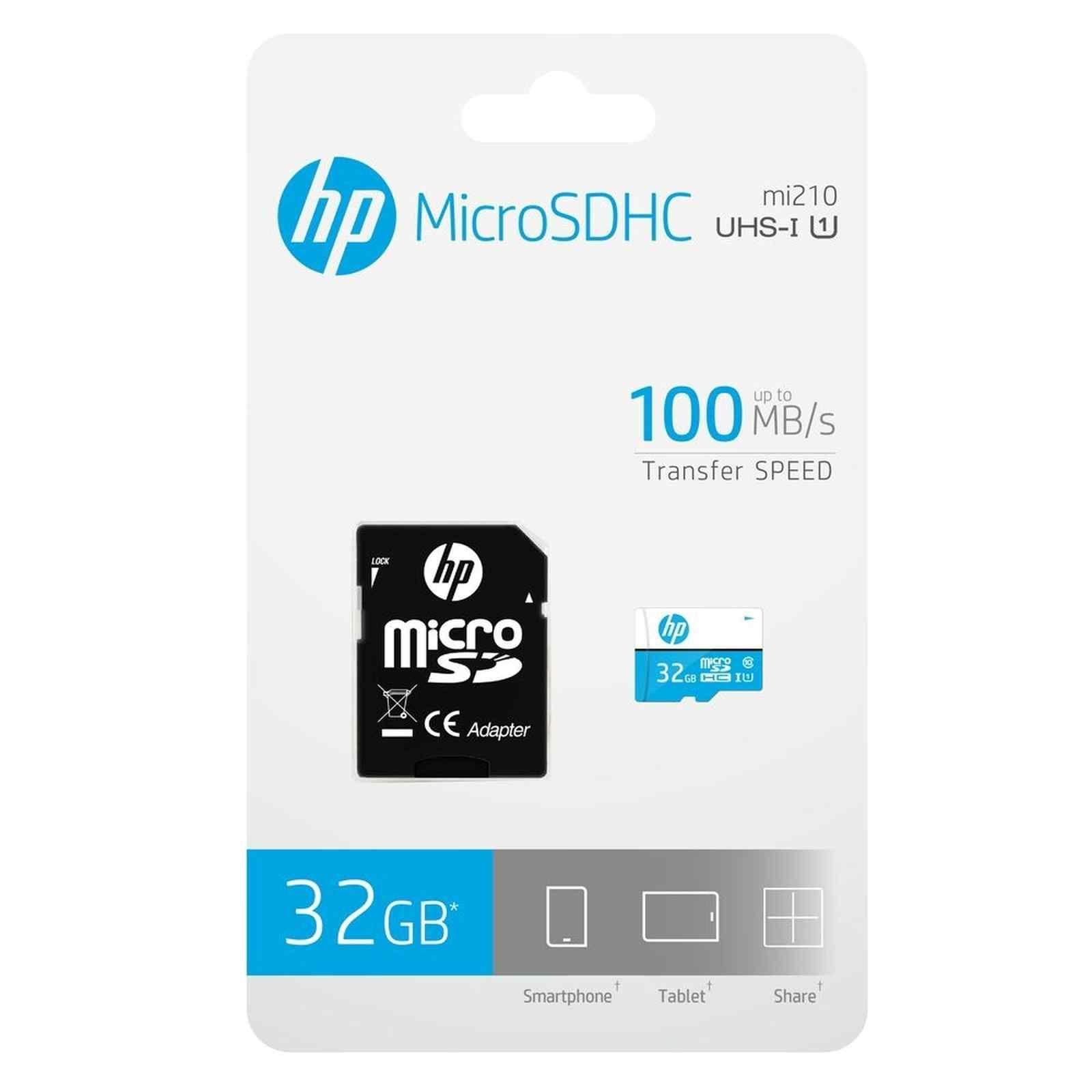 CARTAO DE MEMORIA CLASS10 MICRO SDHC 32 GB C/ADAPTADOR HFUD032-1U1BA HP@