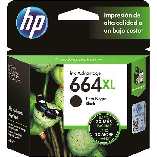 CARTUCHO DE TINTA PRETO 8,5 ml HP ORIGINAL F6V31AB 664XL