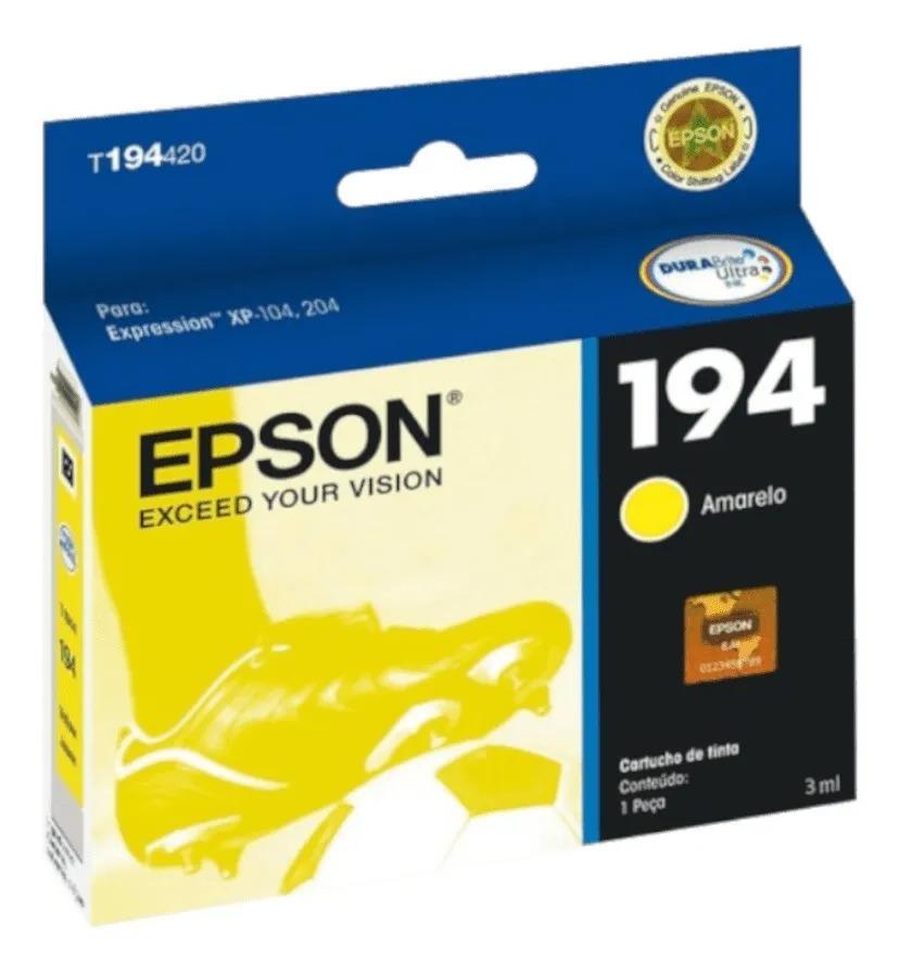 Cartucho Epson 194 Amarelo T194420 Xp204 / Xp214 Original 3ML