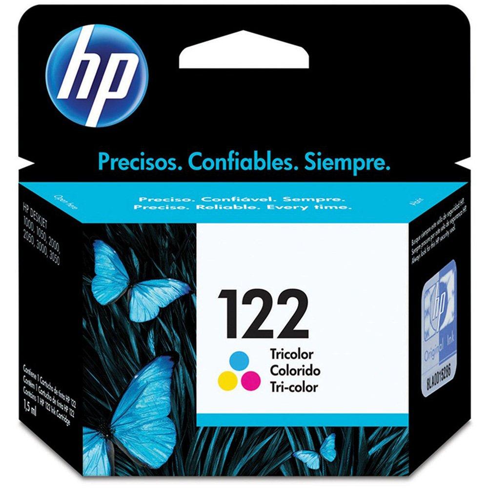 Cartucho HP 122 Colorido Original (CH562HB) Para HP DeskJet 1000, 2050, 3050, 2000 2ML