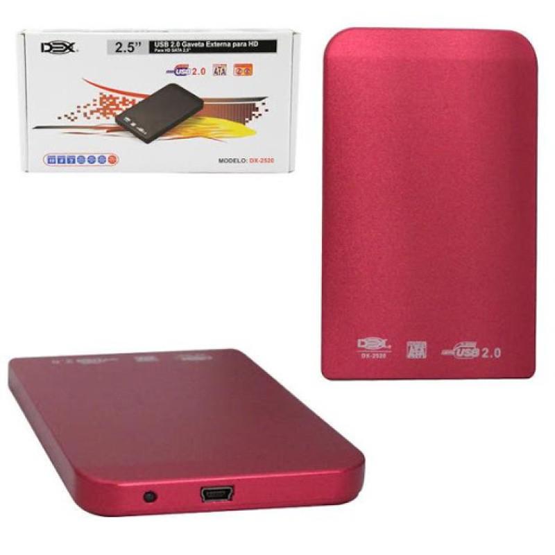 Case Gaveta Externa Hd Sata Notebook 2.5 Bolso 1 Tb Xbox T2 Vermelha dx-2520